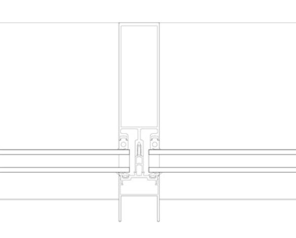 Revit, BIM, Store, Components, Architecture,Object,Free,Download,Kawneer,curtain,wall,system,50mm,AA100,mullion,drained