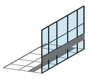 Product: AA100 (50mm) Curtain Wall System - SSG