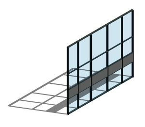 Product: AA100 (50mm) Curtain Wall System - Zone Drained