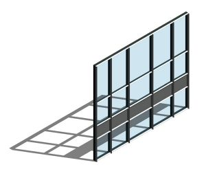 Product: AA110 (65mm) Curtain Wall System - Dual Colour
