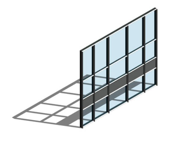 Revit, BIM, Store, Components, Architecture,Object,Free,Download,Kawneer,curtain,wall,system,65mm,AA110,dual,colour,zone,mullion,drained