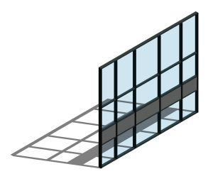 Product: AA110 (65mm) Curtain Wall System - Mullion Drained