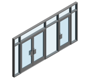 Product: AA190 TB Door - BH into AA100 - Open In (Curtain Wall Door)