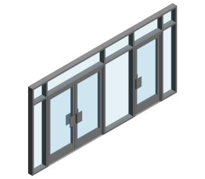 Product: AA190 TB Door - BH into AA100 - Open In (Curtain Wall Door)