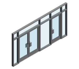 Product: AA190 TB Door - BH Open In (Curtain Wall Door)