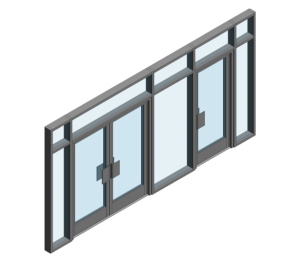 Product: AA190 TB Door - BH Open Out (Curtain Wall Door)