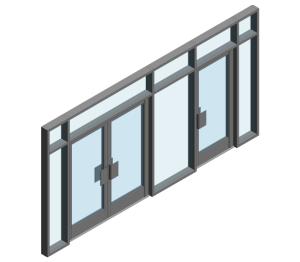 Product: AA190 TB Door - FFG into AA100 (Curtain Wall Door)