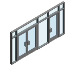 Product: AA190 TB Door - FFG Open Out (Curtain Wall Door)