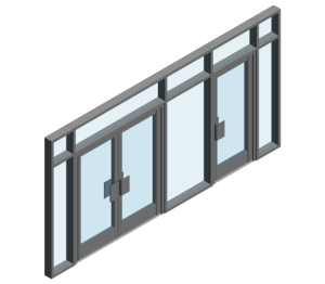 Product: AA190 TB Door - RFG Open Out (Curtain Wall Door)