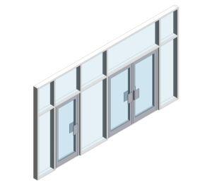 Product: AA720 Doors - (Curtain Wall Door)
