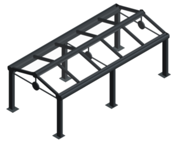 bim, bimstore, object, system, kensington, system, canopy, fixed, shelter, walkway, roof, canopies, Space, Shade, Max, Saddle