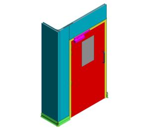 Product: 60mm KS1200UTP - Wall Base and Flush Single Door