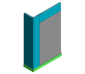 Product: 60mm KS1200UTP - Wall Base and Flush Window (0mm Cill)