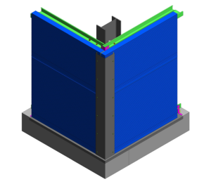 Product: AWP Hz Wall - Base and External Corner Detail