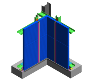 Product: AWP Hz Wall - Base and Internal Pre-Formed Corner Detail