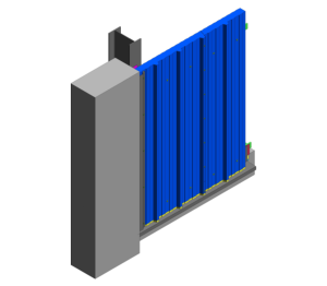 Product: RW Vt Wall - Abutment to Brickwork Detail