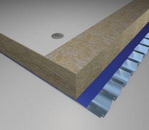 Product: Warm Flat Roof, Steel Deck - U-value - 0.22 W/m²K