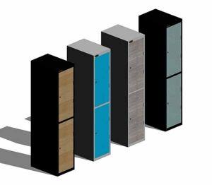 Product: Shockproof Lockers-Low Two Tier Inset Doors