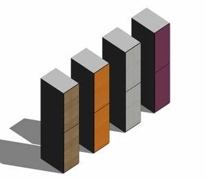 Product: Shockproof Lockers Low Two Tier Overlay Doors