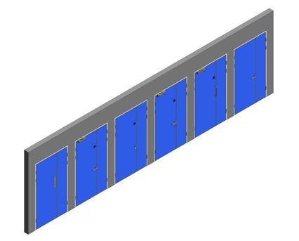 Revit, BIM, Download, Free, Components, Object, Interspec, Single, Door, Lloyd, Worrall, Half, leaf, ironmongery, doorset, detail, 00