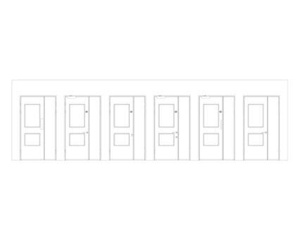 Revit, BIM, Download, Free, Components, Object, Interspec, Single, Door, Lloyd, Worrall, Half, leaf, ironmongery, doorset, detail, 10