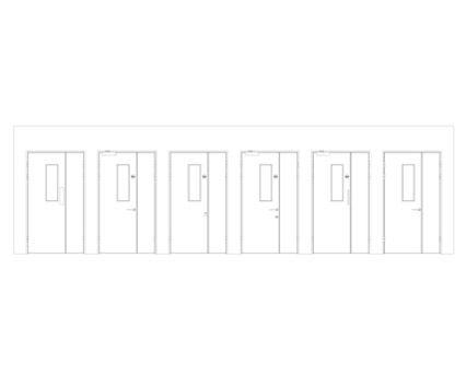 Revit, BIM, Download, Free, Components, Object, Interspec, Single, Door, Lloyd, Worrall, Half, leaf, ironmongery, doorset, detail, 12