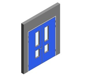 Product: Interspec Doorset - Detail 13 - Double Leaf