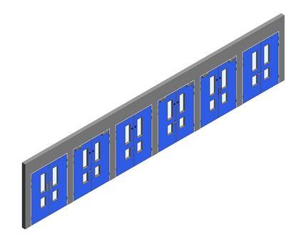 Revit, BIM, Download, Free, Components, Object, Interspec, Single, Door, Lloyd, Worrall, Double, leaf, ironmongery, doorset, detail, 13