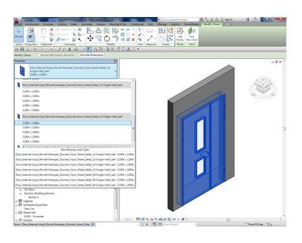 Revit, BIM, Download, Free, Components, Object, Interspec, Single, Door, Lloyd, Worrall, Half, leaf, ironmongery, doorset, detail, 13