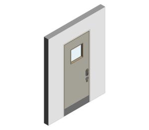 Product: Mental Health Doorset - Detail 04 - Single Leaf