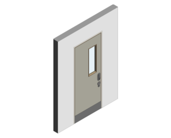 Revit, BIM, Download, Free, Components, object, objects, Lloyd, Worrall, Group, Mental, Health, Environment, Door, Sets, Detail, 12, MHD, Ironmongery, Single, Leaf