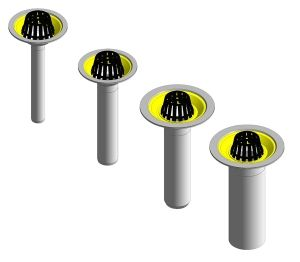 Product: Roof Outlet - Vertical Threaded