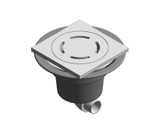 Product: Shower Outlet - Horizontal Socket (Tiled Flooring)