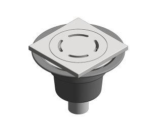 Product: Shower Outlet - Vertical Spigot (Tiled Flooring)