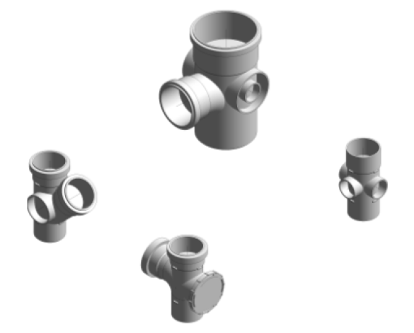 Bim, BIM, Store, Revit, Durapipe, Pipe, Pipes, Fitting, Coupling, Bend, Equal, Offset, Braches, Five, Three, Unequal, Boss, Rear, Access, Level, Invert, Reducer, Adaptor, Marley, Plumbing, and, Drainage, Push, Fit, Soil, PVC, u, PVCu