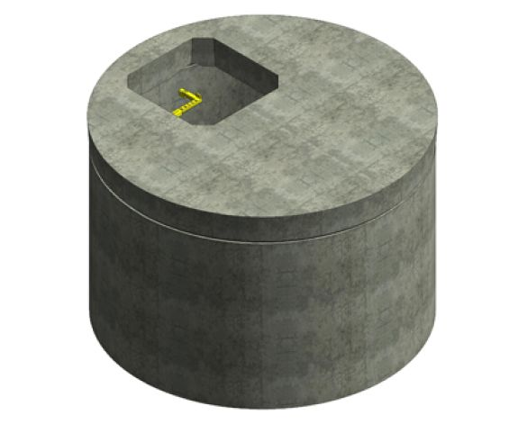 Revit, Bim, Store, Components, Object, Family, Drainage, CPM, Group, Ltd, Concrete, Manhole, Chamber, Ring, Cover, Slab, DN900, DN4000