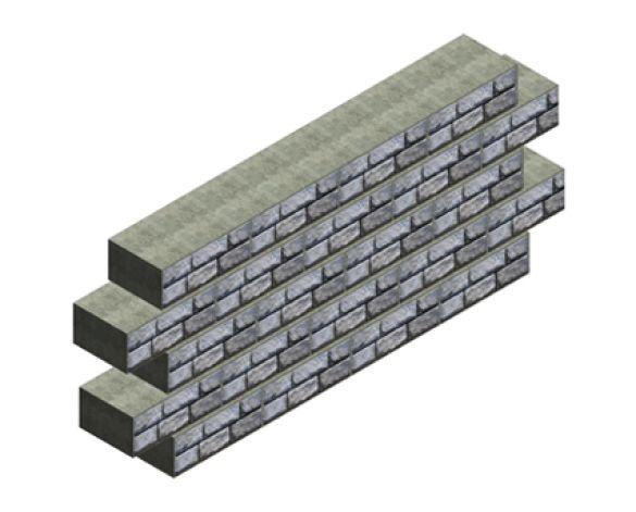 Revit, Bim, Store, Components, Object, Family, Drainage, CPM, Group, Ltd, Redi, Rock, Modular, Retaining, Wall, Series, Cobblestone, Ledgestone, Limestone, Precast, Concrete