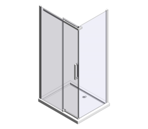 Product: Ionic Essence Sliding Door with Side Panel