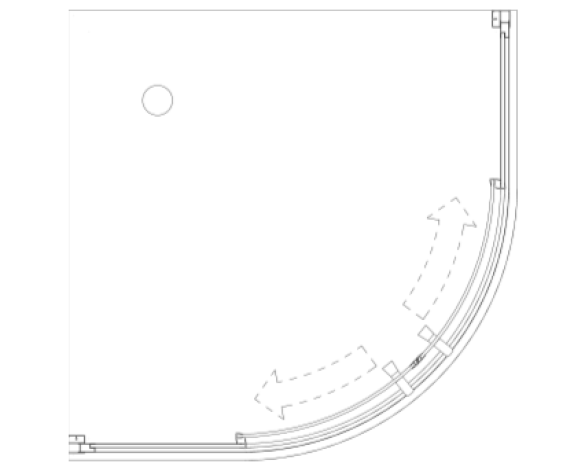 Revit, BIM, Download, Free, Components, object, objects, Merlyn, Bath, Shower, Screen, Enclosure, Door, MBOX, Two, Door, Loft, Quadrant