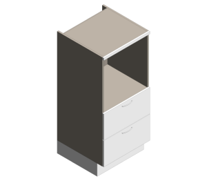 Product: Definitive - 1360mm High - Midi Single Oven Drawers