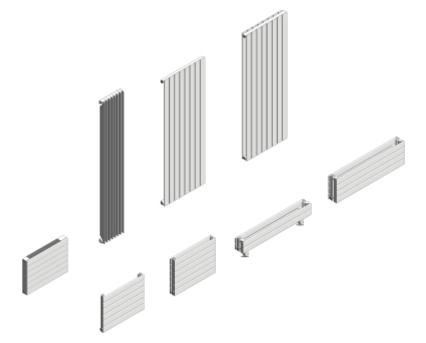 Revit, BIM, Download, Free, Components, object, objects, Myson, radiator, heating, mechanical, range, equipment, radiators, decor, horizontal, H11, H22, H28, TS4, V10, V20