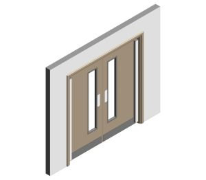 Product: Finger Guard Double Doorset
