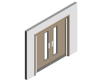 Revit, BIM, Download, Free, Components, Doorset, Double, Fire, Door, Doors, Finger, Guard, Education, School