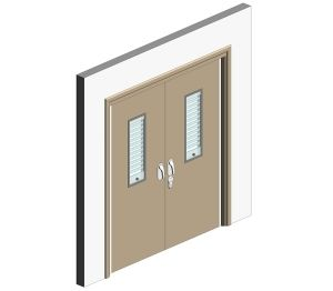 Product: Healthcare Double Doorset