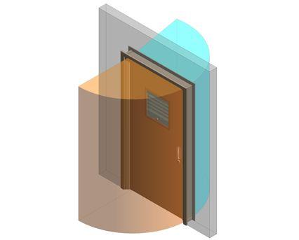 Revit, BIM, Download, Free, Components, Doorset, Double, Fire, Door, Doors, Ligature, Health, Care, Sure, Close, Healthcare