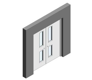 Product: Series SR40 Acoustic Doors (Double NG9)