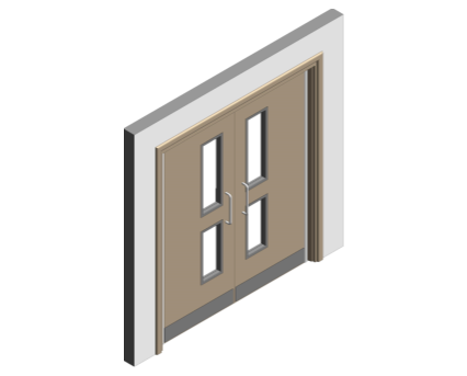 Revit, BIM, Download, Free, Components, Doorset, Double, Fire, Door, Doors, Finger, Guard, Education, School, Sure, Close, Sureclose