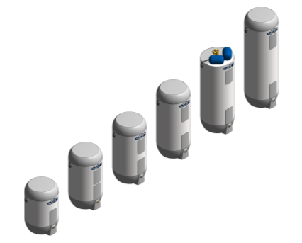 BIM, content, object, component, Bimstore, Revit, OSO, hotwater, mechanical, equipment, super, xpress, sxd, water, storage, cylinder, fully, pre-plumbed
