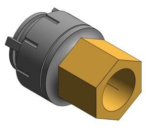 Product: PolyFit Female BSPT Adaptor DZR Brass Body