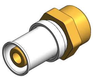 Product: PolySure - Brass - Compression Adaptor